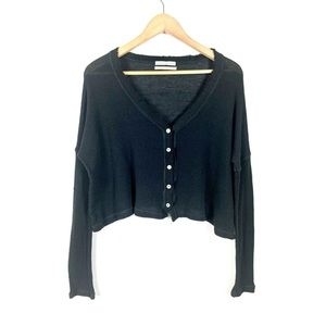 Urban Outfitter Cropped Top Long Sleeve Black XS